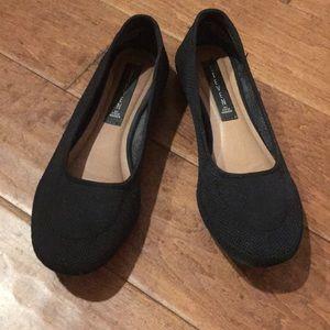 Black Knit Flats